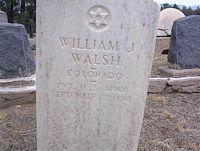 WALSH, WILLIAM J. - Chaffee County, Colorado   WILLIAM J. WALSH - Colorado Gravestone Photos