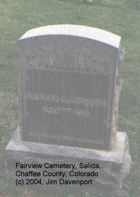 WEBSTER, HOWARD E. - Chaffee County, Colorado | HOWARD E. WEBSTER - Colorado Gravestone Photos