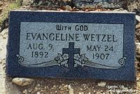 WETZEL, EVANGELINE - Chaffee County, Colorado   EVANGELINE WETZEL - Colorado Gravestone Photos