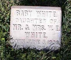 WHITE, BABY - Chaffee County, Colorado | BABY WHITE - Colorado Gravestone Photos