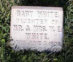 WHITE, BABY - Chaffee County, Colorado   BABY WHITE - Colorado Gravestone Photos