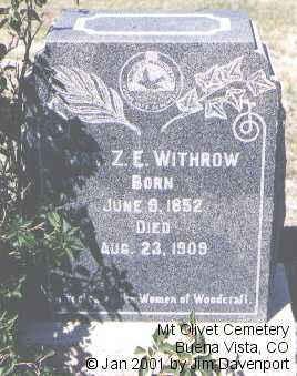 WITHROW, MRS. Z.E. - Chaffee County, Colorado | MRS. Z.E. WITHROW - Colorado Gravestone Photos