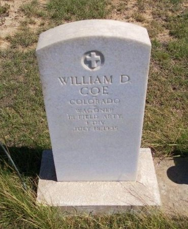 COE (VETERAN WWI), WILLIAM DUNCAN - Cheyenne County, Colorado | WILLIAM DUNCAN COE (VETERAN WWI) - Colorado Gravestone Photos