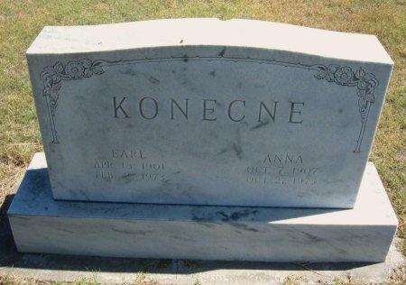 KONECNE, ANNA - Cheyenne County, Colorado | ANNA KONECNE - Colorado Gravestone Photos