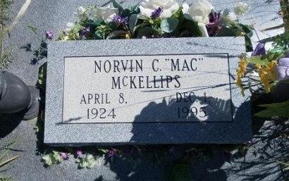 "MCKELLIPS, NORVIN C ""MAC"" - Cheyenne County, Colorado | NORVIN C ""MAC"" MCKELLIPS - Colorado Gravestone Photos"