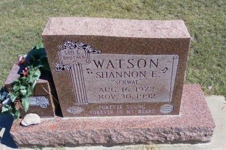 WATSON, SHANNON E - Cheyenne County, Colorado | SHANNON E WATSON - Colorado Gravestone Photos