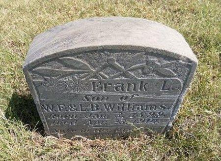 WILLIAMS, FRANK L - Cheyenne County, Colorado | FRANK L WILLIAMS - Colorado Gravestone Photos