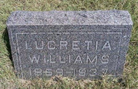 WILLIAMS, LUCRETIA - Cheyenne County, Colorado | LUCRETIA WILLIAMS - Colorado Gravestone Photos