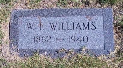 WILLIAMS, W F - Cheyenne County, Colorado | W F WILLIAMS - Colorado Gravestone Photos