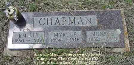 CHAPMAN, MONROE - Clear Creek County, Colorado | MONROE CHAPMAN - Colorado Gravestone Photos