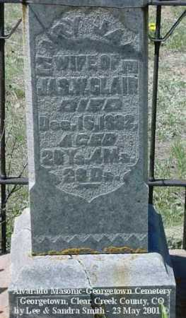 CLAIR, MARY JANE - Clear Creek County, Colorado   MARY JANE CLAIR - Colorado Gravestone Photos