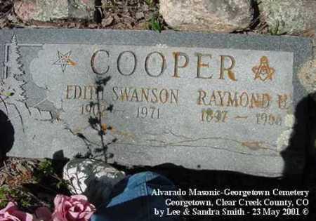 SWANSON COOPER, EDITH - Clear Creek County, Colorado | EDITH SWANSON COOPER - Colorado Gravestone Photos