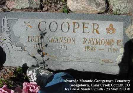SWANSON COOPER, EDITH - Clear Creek County, Colorado | EDITH SWANSON COOPER - Colorado Gravestone Photos
