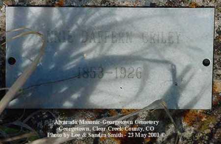 DAFFERN CRILEY, ANNIE - Clear Creek County, Colorado | ANNIE DAFFERN CRILEY - Colorado Gravestone Photos