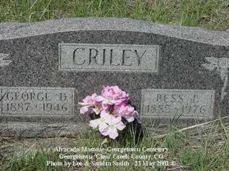 CRILEY, GEORGE D. - Clear Creek County, Colorado   GEORGE D. CRILEY - Colorado Gravestone Photos