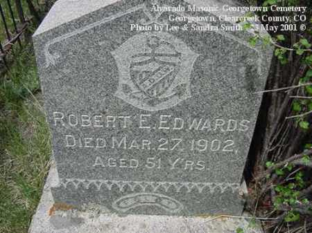 EDWARDS, ROBERT E. - Clear Creek County, Colorado | ROBERT E. EDWARDS - Colorado Gravestone Photos