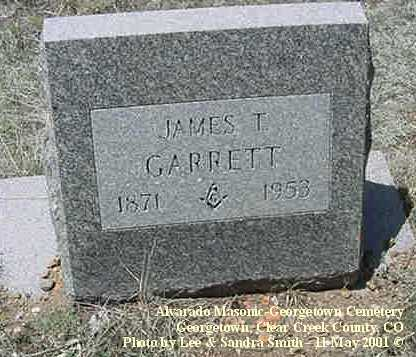 GARRETT, JAMES T. - Clear Creek County, Colorado | JAMES T. GARRETT - Colorado Gravestone Photos