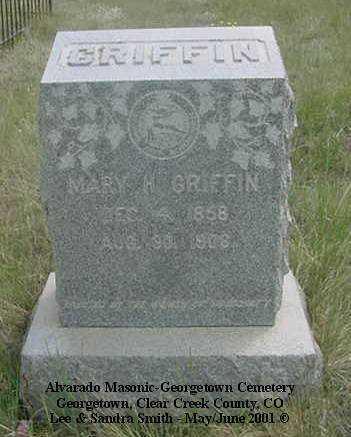 GRIFFIN, MARY H. - Clear Creek County, Colorado | MARY H. GRIFFIN - Colorado Gravestone Photos