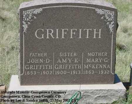 GRIFFITH, MINNIE - Clear Creek County, Colorado | MINNIE GRIFFITH - Colorado Gravestone Photos