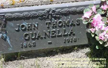 GUANELLA, JOHN THOMAS - Clear Creek County, Colorado | JOHN THOMAS GUANELLA - Colorado Gravestone Photos