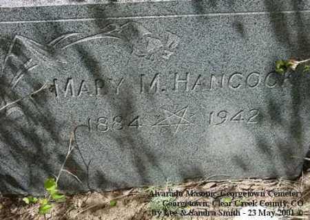 HANCOCK, MARY M. - Clear Creek County, Colorado | MARY M. HANCOCK - Colorado Gravestone Photos
