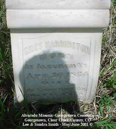 HARRINGTON, GILES - Clear Creek County, Colorado | GILES HARRINGTON - Colorado Gravestone Photos