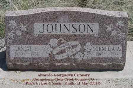SARTAIN JOHNSON, CORNELIA A. - Clear Creek County, Colorado   CORNELIA A. SARTAIN JOHNSON - Colorado Gravestone Photos