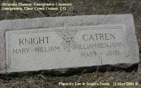 KNIGHT, WILLIAM - Clear Creek County, Colorado | WILLIAM KNIGHT - Colorado Gravestone Photos