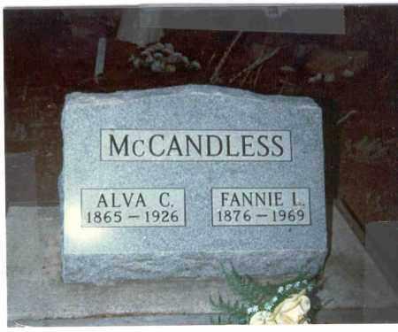 RAREY MCCANDLESS, FANNIE L. - Clear Creek County, Colorado | FANNIE L. RAREY MCCANDLESS - Colorado Gravestone Photos