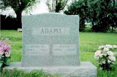 ADAMS, ANNA - Conejos County, Colorado | ANNA ADAMS - Colorado Gravestone Photos