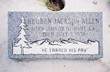 ALLEN, REUBEN JACKSON - Conejos County, Colorado | REUBEN JACKSON ALLEN - Colorado Gravestone Photos