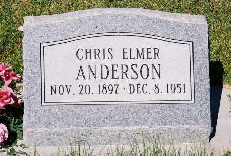 ANDERSON, CHRIS ELMER - Conejos County, Colorado | CHRIS ELMER ANDERSON - Colorado Gravestone Photos