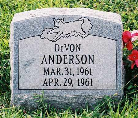 ANDERSON, DEVON - Conejos County, Colorado | DEVON ANDERSON - Colorado Gravestone Photos