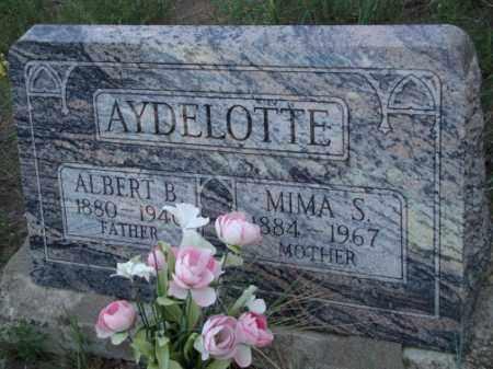 AYDELOTTE, MIMA S. - Conejos County, Colorado | MIMA S. AYDELOTTE - Colorado Gravestone Photos
