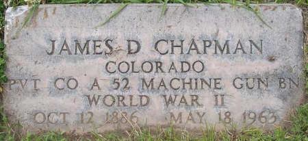 CHAPMAN, JAMES D. - Conejos County, Colorado   JAMES D. CHAPMAN - Colorado Gravestone Photos