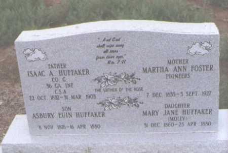 HUFFAKER, MARY JANE (MOLLY) - Conejos County, Colorado | MARY JANE (MOLLY) HUFFAKER - Colorado Gravestone Photos