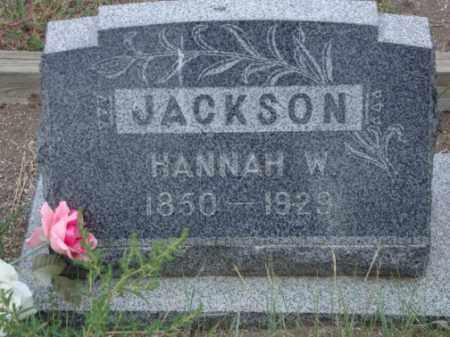 JACKSON, HANNAH W. - Conejos County, Colorado   HANNAH W. JACKSON - Colorado Gravestone Photos