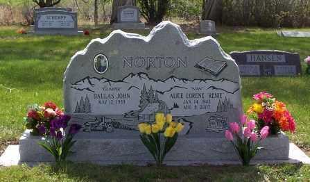 NORTON, ALICE LORENE - Conejos County, Colorado | ALICE LORENE NORTON - Colorado Gravestone Photos