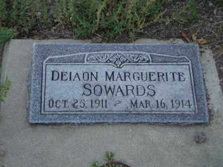 SOWARDS, DEIAON MARGUERITE - Conejos County, Colorado | DEIAON MARGUERITE SOWARDS - Colorado Gravestone Photos