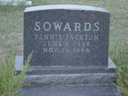 SOWARDS, FANNIE - Conejos County, Colorado | FANNIE SOWARDS - Colorado Gravestone Photos