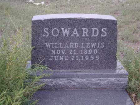 SOWARDS, WILLARD LEWIS - Conejos County, Colorado | WILLARD LEWIS SOWARDS - Colorado Gravestone Photos