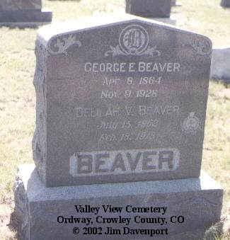 BEAVER, DELILAH V. - Crowley County, Colorado | DELILAH V. BEAVER - Colorado Gravestone Photos