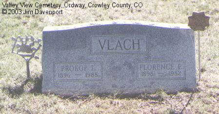 VLACH, FLORENCE E. - Crowley County, Colorado | FLORENCE E. VLACH - Colorado Gravestone Photos