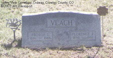 VLACH, FLORENCE E. - Crowley County, Colorado | FLORENCE E. VLACH - Colorado Gravestone Photos