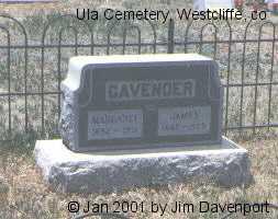 CAVENDER, JAMES - Custer County, Colorado   JAMES CAVENDER - Colorado Gravestone Photos