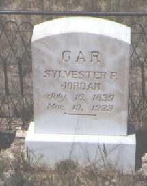 JORDAN, SYLVESTER F. - Custer County, Colorado   SYLVESTER F. JORDAN - Colorado Gravestone Photos