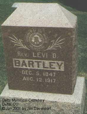 BARTLEY, REV. LEVI D. - Delta County, Colorado   REV. LEVI D. BARTLEY - Colorado Gravestone Photos