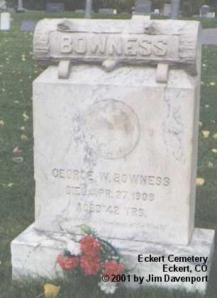 BOWNESS, GEORGE W. - Delta County, Colorado | GEORGE W. BOWNESS - Colorado Gravestone Photos