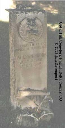 BROWN, IVA LYNN - Delta County, Colorado | IVA LYNN BROWN - Colorado Gravestone Photos