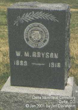 BRYSON, W. M. - Delta County, Colorado | W. M. BRYSON - Colorado Gravestone Photos